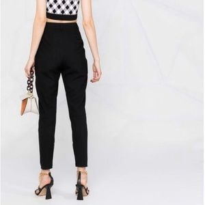 Moschino C&C High Rise Black Skinny Trousers size 4